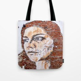 Painted women's face  Tote Bag