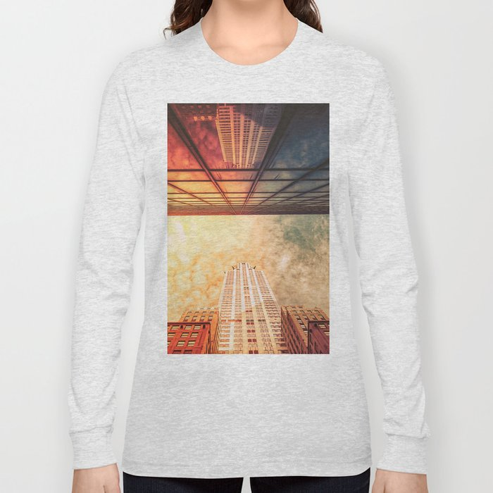 New York City Chrysler Building Up Up and Away Long Sleeve T-shirt