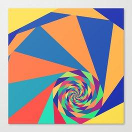 Geometric Fractal Spiral Canvas Print
