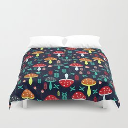 Multicolored mushrooms Duvet Cover
