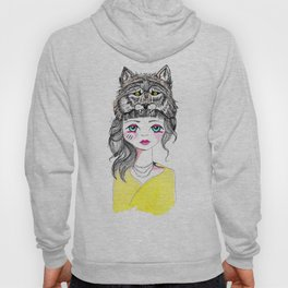 Wolf girl colour Hoody