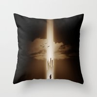 heaven Throw Pillows featuring heaven by MatoSwamp