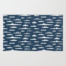 Battleship // Navy Blue Rug
