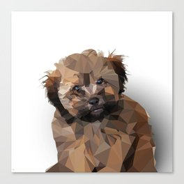 Cocoa, the puppy Canvas Print