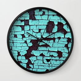 WEATHERED TURQUOISE Wall Clock