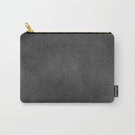 Grey Velvet Carry-All Pouch
