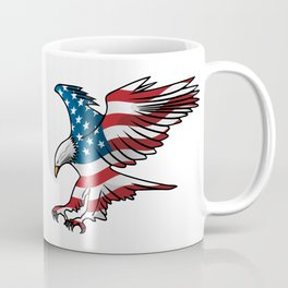 Patriotic Flying American Flag Eagle Coffee Mug