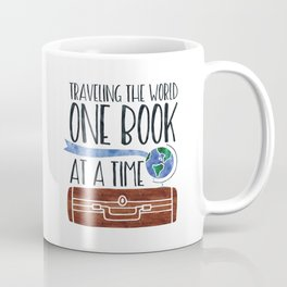 Traveling the World One Book at a Time V2 (Colour) Coffee Mug