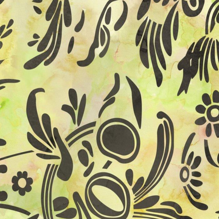 Watercolor Damask Pattern 03 Leggings