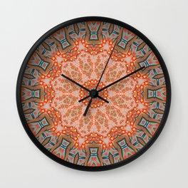 Energy Light | Orange & Teal geometry Wall Clock