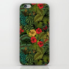 Tropical garden iPhone Skin