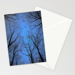 A Certain Darkness Is Needed (Night Trees Silhouette) Stationery Cards