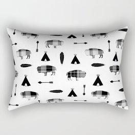 Buffalo Tribal Rectangular Pillow