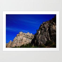 Wyoming Mountain Peaks 2009 Art Print