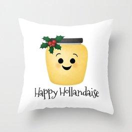 Happy Hollandaise Throw Pillow