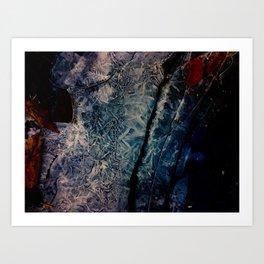 Frozen Stream Bed 5 Art Print