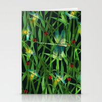 fireflies Stationery Cards featuring fireflies by kociara