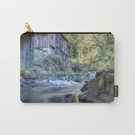 The View of Cedar Creek Grist Mill from Under The Bridge Carry-All Pouch