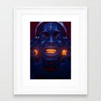 asap rocky Framed Art Prints featuring ASAP ROCKY by Mart Biemans