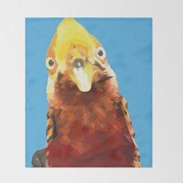 PEEK A BOO BIRD Throw Blanket