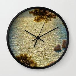 Classical Masterpiece 'Amalfi Coast, Italy' by Ivan Fedorovich Choultse Wall Clock