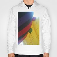 hot air balloons Hoodies featuring Hot Air Balloons by merialayne