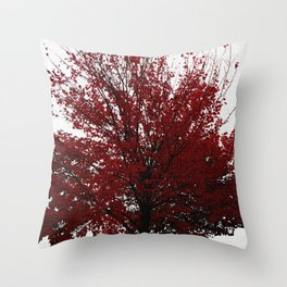 Tree on Canvas Throw Pillow