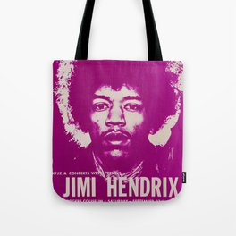 1969 Jimi Hendrix Concert Handbill Poster, Will Rogers Colosseum, Ft. Worth, Texas Tote Bag