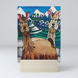 A Spittoon of Alpacas Mini Art Print