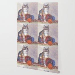 Purling Puss Wallpaper