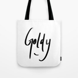 goldy typography Tote Bag