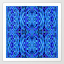 Elegant Blue Caress Art Print