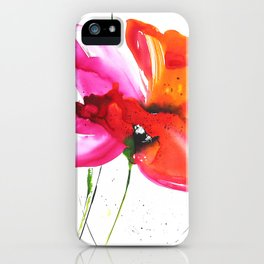 Abstract flower colorful painting iPhone Case