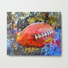 Football art print work vs 3 - Football poster artwork Metal Print