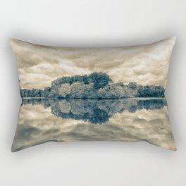 Autumn Reflections Split Toned Monochromatic Rural Landscape Photograph Rectangular Pillow