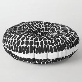 Black round print Floor Pillow