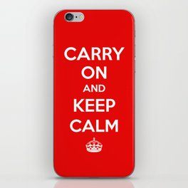 Carry On and Keep Calm iPhone Skin