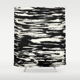Brush Stripe 2 Shower Curtain