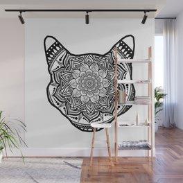 Cat Mandala Wall Mural