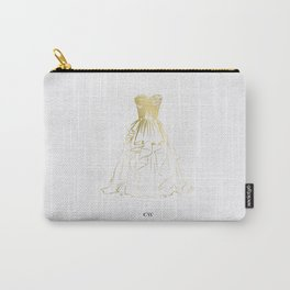 Little Gold Ball Gown Dress Carry-All Pouch