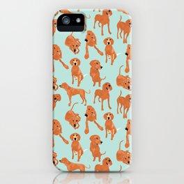 Redbone  Coonhound Pattern iPhone Case