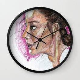 Sketch of Rey (Force Awakens) Wall Clock
