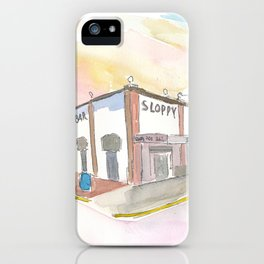Key West Florida Bar Duval Street Scene iPhone Case