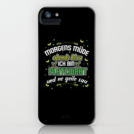 Groundsman Greenkeeper Camping ground iPhone Case