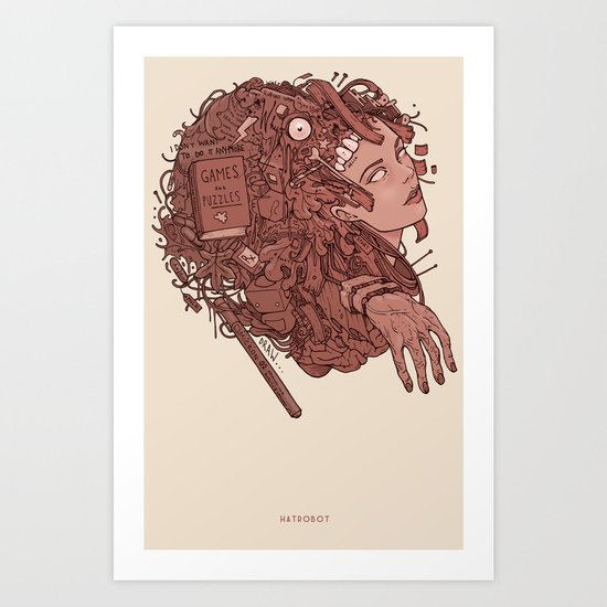 Games and Puzzles Art Print