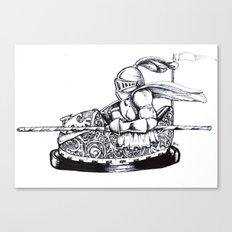 Knight cart bumper Canvas Print