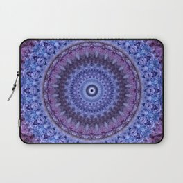 Mandala in violet and blue tones Laptop Sleeve