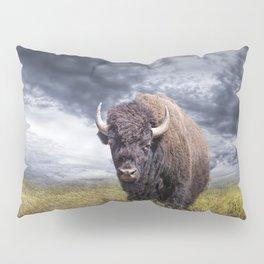 Plains Buffalo on the Prairie Pillow Sham