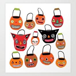 Trick Or Treat Halloween Art Print