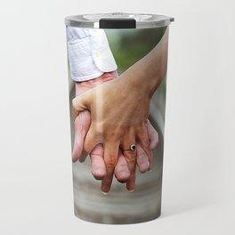 Holding Hands And Engaged Travel Mug